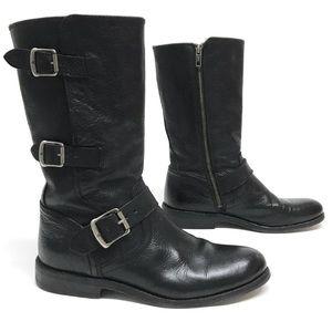 FRYE JAYDEN Moto Motorcycle Boots 3 BUCKLES 7 $358